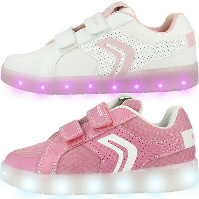 GEOX J Kommodor G. C GS Sneaker Kinder LED Blink Schuhe Turnschuhe J924HC0GNBUC | eBay 75zG1