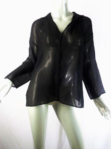 Eileen Fisher Black Oversized Light Semi Sheer Ray