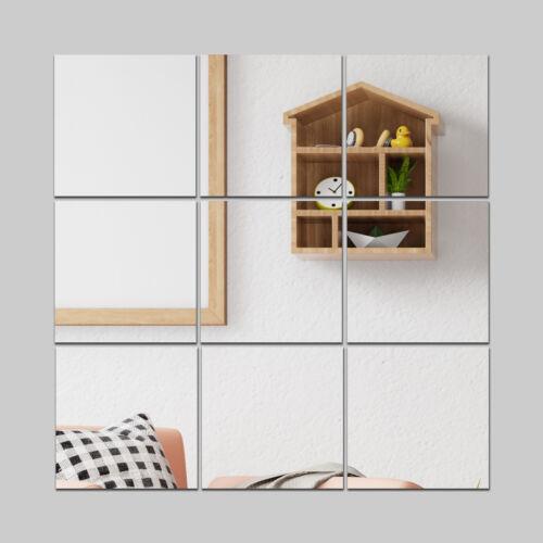 Acrylic Mirror Wall Sticker Decal Self Adhesive Removable Home Nursery Decor Art