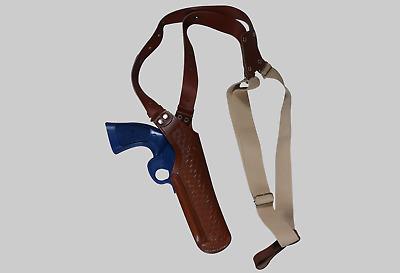 """K400357 Basketweave Vertical Shoulder Holster 357 Magnum Revolvers 4"""" Handmade!"""