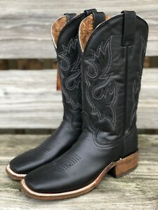 1c5e5e06f12 Details about Corral Women's Black Wide Square Toe Western Boots A3553