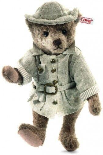 NEW STEIFF Livingstone I Presume Explorer Jungle LTD Mohair TEDDY BEAR 034985