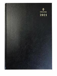 Collins-A4-2021-Ano-Completo-Negro-Dia-Por-Pagina-Diario-E-21-planificador-de-edicion-temprana