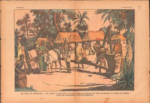 Missionary-Mill-Hill-India-Oil-mill-Inde-Moulin-a-huile-Cows-1935-ILLUSTRATION