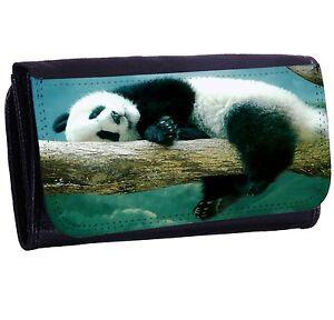 Panda Bi-fold Zipper Bill /& Card Holder Long Wallet
