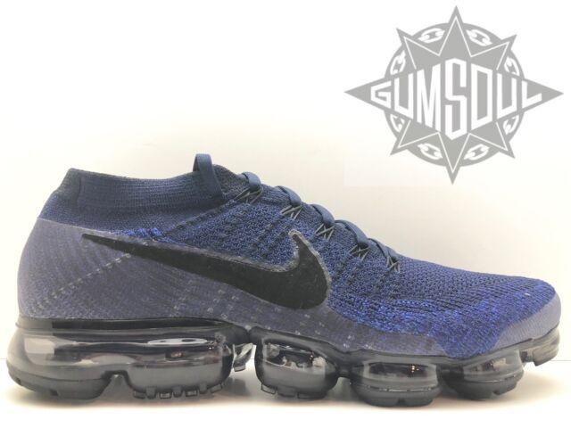 size 40 59de5 dccca Nike 2017 Air Vapormax Flyknit College Navy Black 849558-400 Mens Shoes S 11