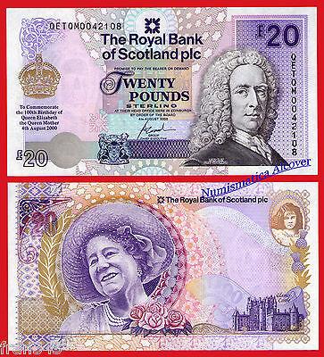 ESCOCIA ROYAL BANK OF SCOTLAND 20 Pounds 2000 COMMEMORATIVE Pick 361  SC / UNC