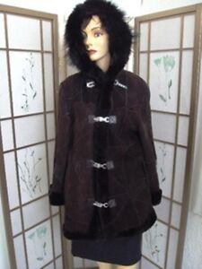 Fur Shearling 6 New Sz 4 Coat Sheepskin Brown Women wTWvHqzBa
