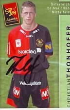 FOOTBALL carte joueur CHRISTIAN THONHOFER équipe  ADMIRA signée