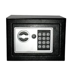 digital electronic safe small black box combo keypad lock. Black Bedroom Furniture Sets. Home Design Ideas