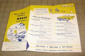 1950-039-s-MORSE-AUTO-RENTAL-Miami-Florida-Fold-Out-Brochure-While-in-Miami