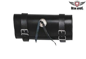 Waterproof 10 Inch Black Motorcycle Tool Bag with Concho - free shipping