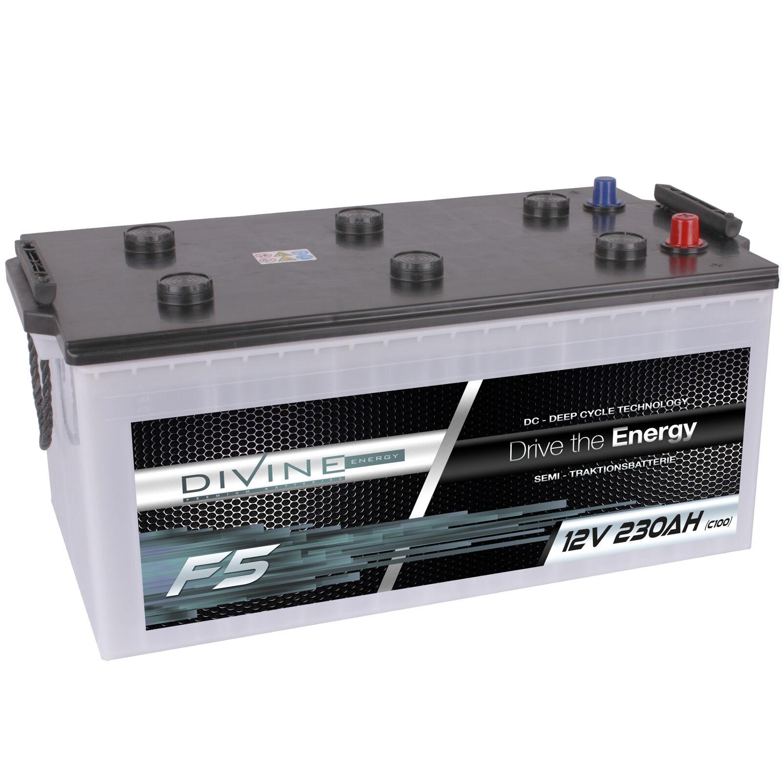 DiVine Stiefel F5 12V 230Ah Batterie für Stiefel DiVine Yacht Schiff Marine Antrieb Alarm Hobby 315602