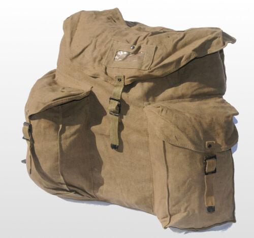 Italian Army Military Surplus Canvas Rucksack Backpack Kit Bag Khaki Heavy Duty