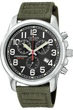 Sitizen Chandler 39mm Stainless Steel Case Green Strap - (AT0200-05E)