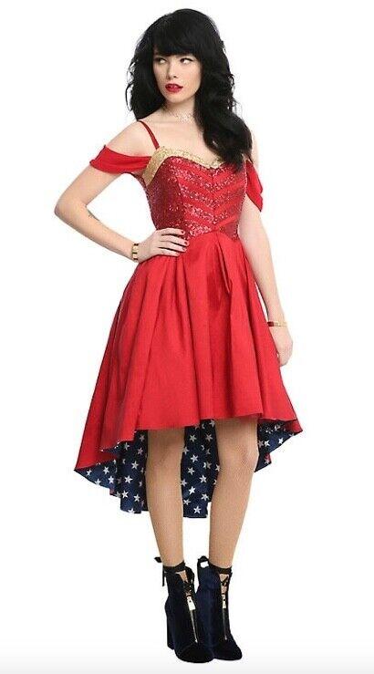 NWT Wonder Woman DC Comics Formal Prom Dress Cosplay Größe SMALL