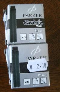 Parker mini:6x6 cartouches noires - France - État : Neuf avec étiquettes: Objet neuf, jamais porté, vendu dans l'emballage d'origine (comme la bote ou la pochette d'origine) et/ou avec étiquettes d'origine. ... Caractéristiques: A cartouches - France