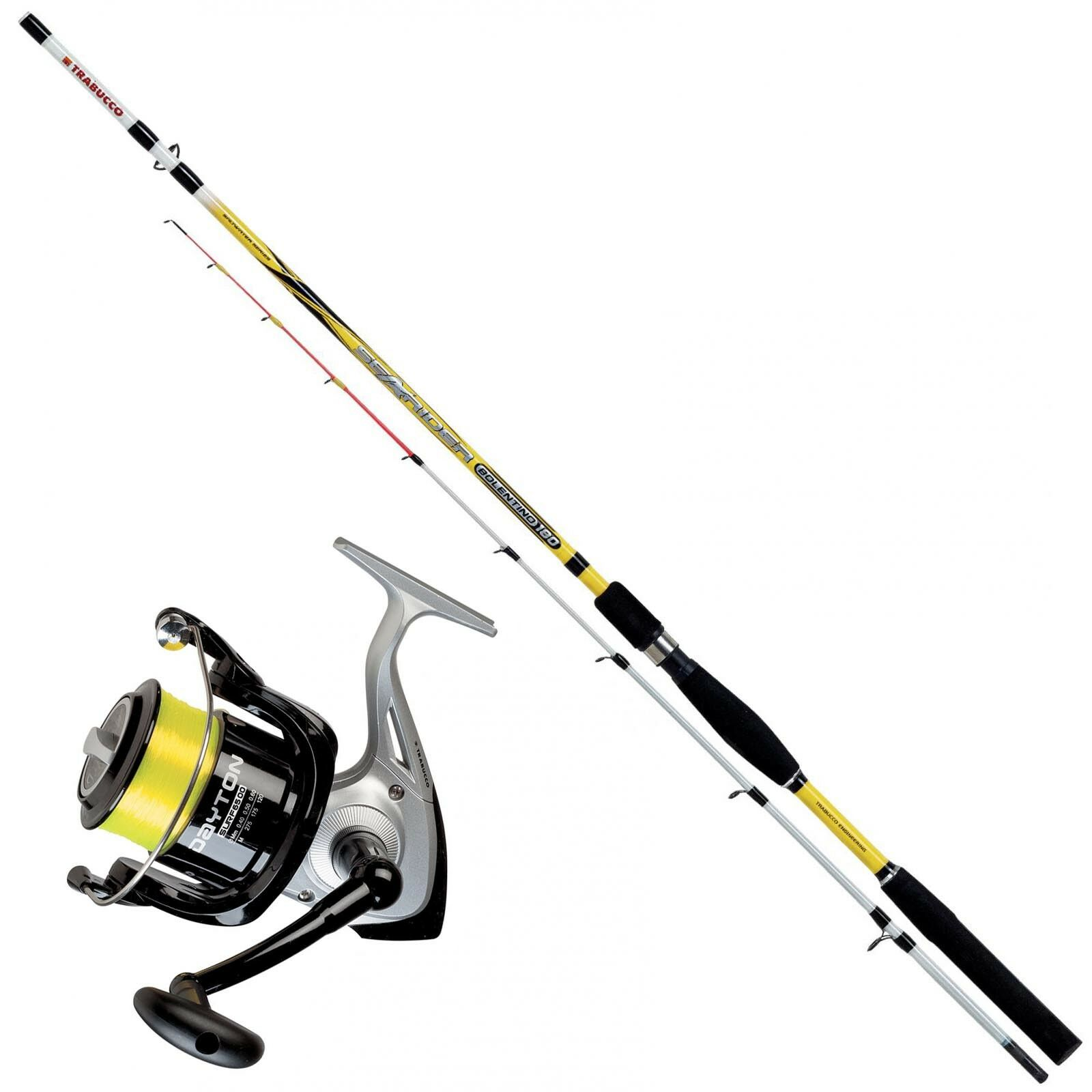KP3316 Kit Pesca Bolentino Trabucco Canna Searider 1,80 m + Mulinello 6500 CASG