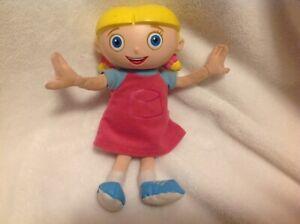 Disney-Store-Little-Einsteins-Stuffed-Plush-Doll-7-034-Talking-Annie-Tested-Works