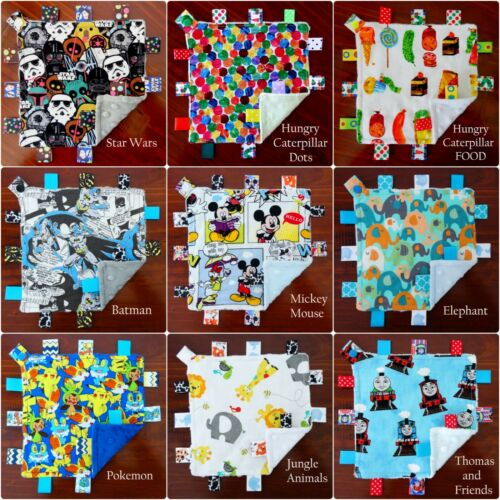 Mini Size TaGgie Taggy Tag Blanket Toy comforter Dummy//Teethers clip Holder