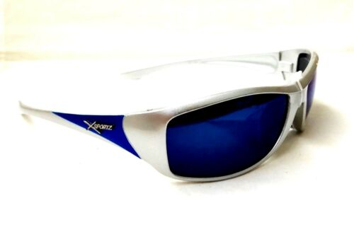 Men/'s Sports Sunglasses XS109 Silver Frame 100/% UV Protection Mirrored lens