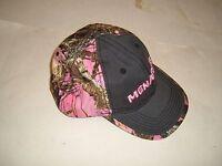 Set Of 4 Menards Pink Camo Ladies Womens Velcro Adustable Baseball Hat/cap