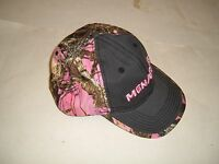 Set Of 2 Menards Pink Camo Ladies Womens Velcro Adustable Baseball Hat/cap