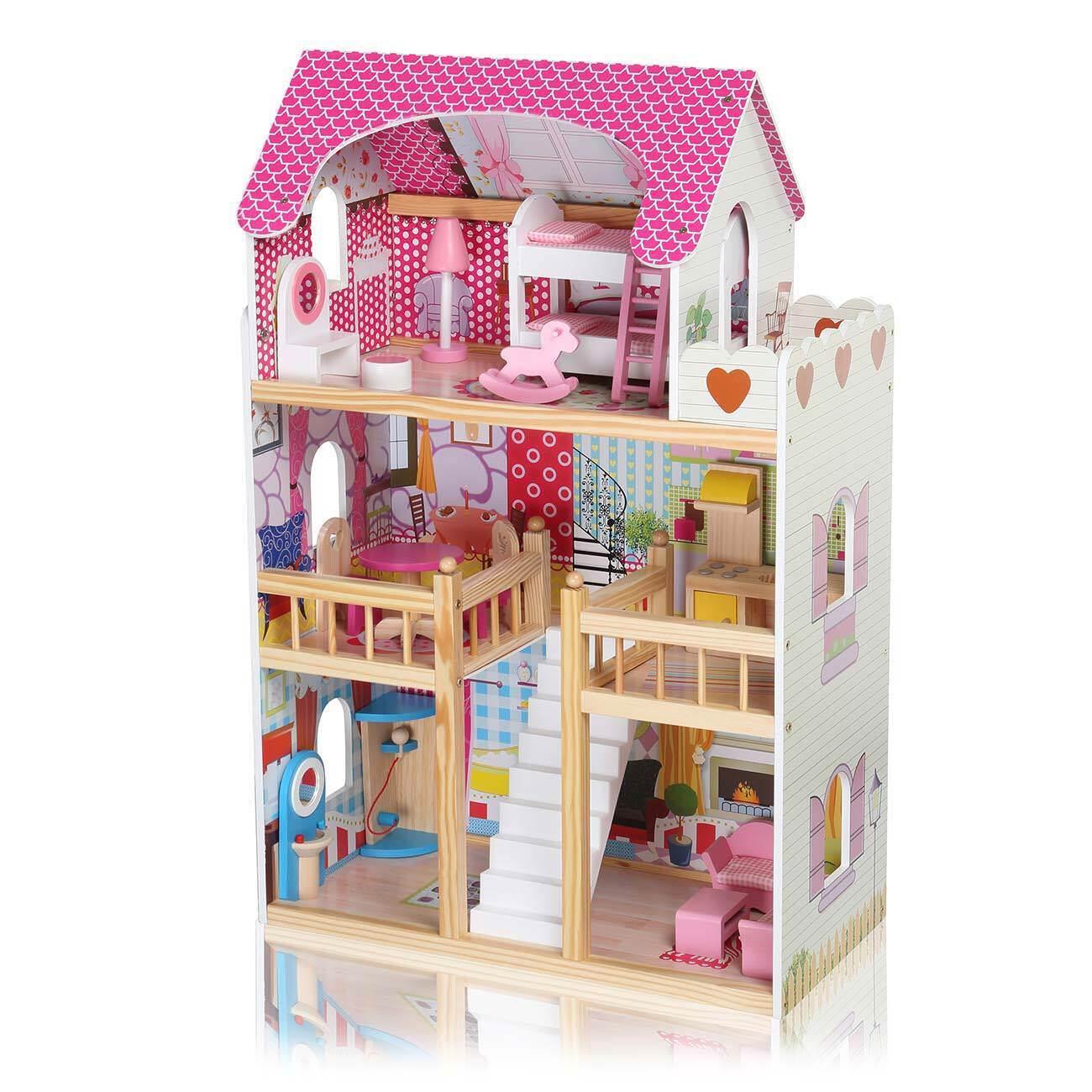 Maison de Poupée Kit Dollhouse Miniature Meubles Chambe En Bois Accessoires DIY