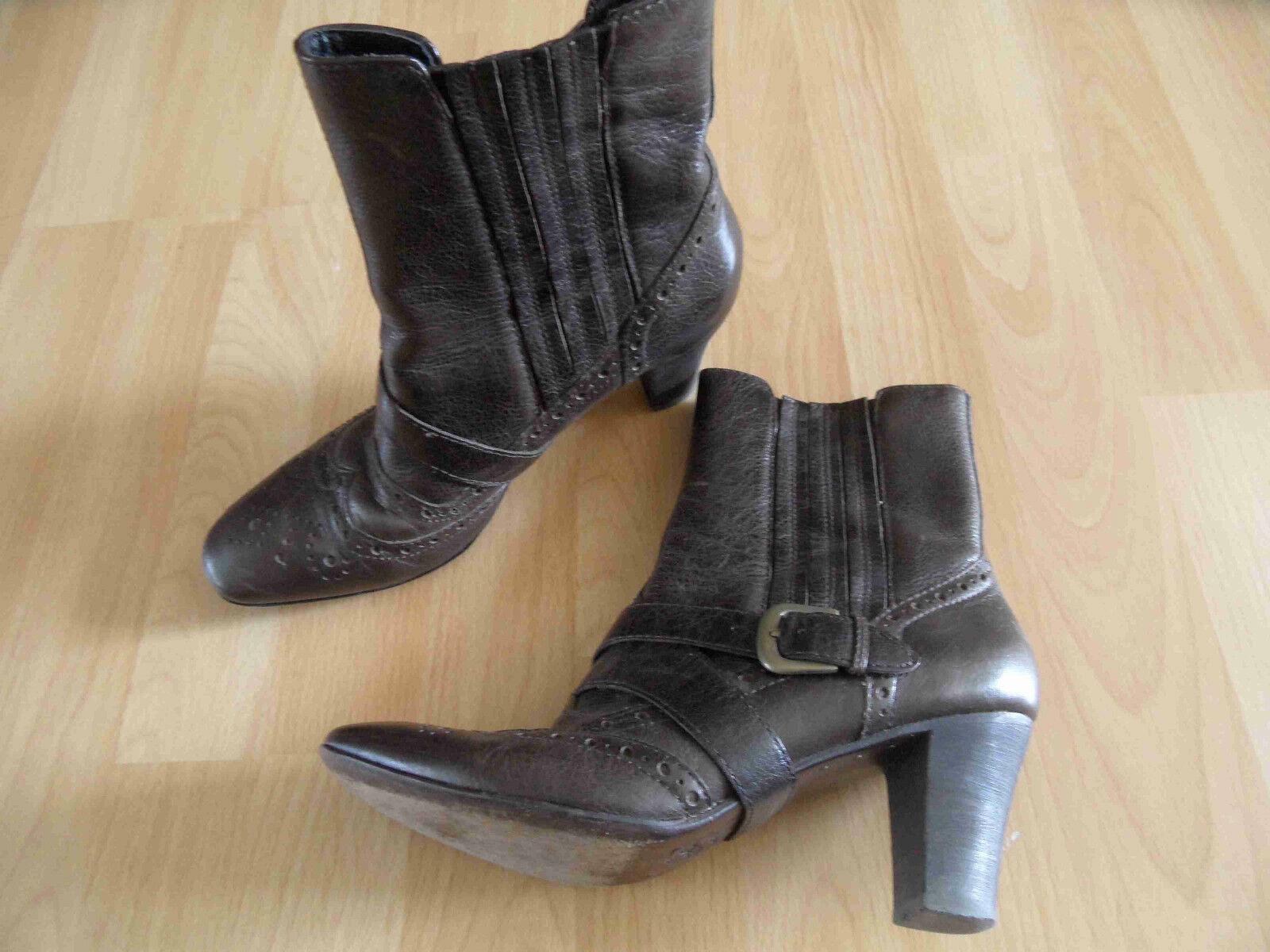ASH stylische Stiefeletten braun Budapester Stil Gr. 37 TOP (KB714)