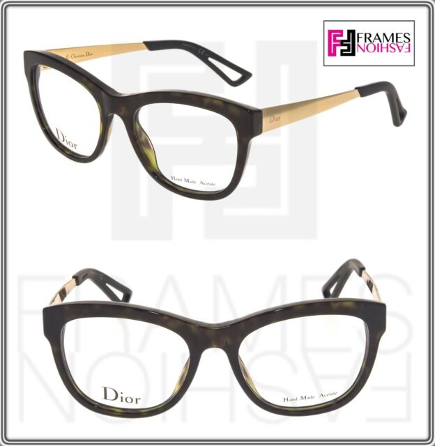 30fc3fe67e CHRISTIAN DIOR CD3288 Gold Tortoise Square 52mm RX Optical Eyeglasses  Authentic