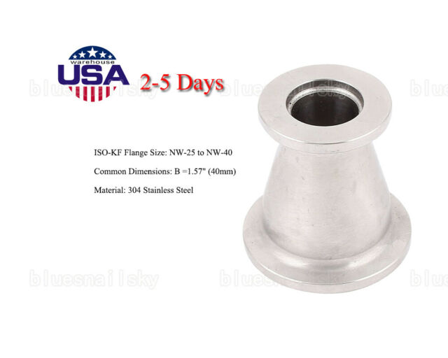 KF40 to NW16 KF16 Stainless Steel Reducer Vacuum Fitting NEW MDC NW40