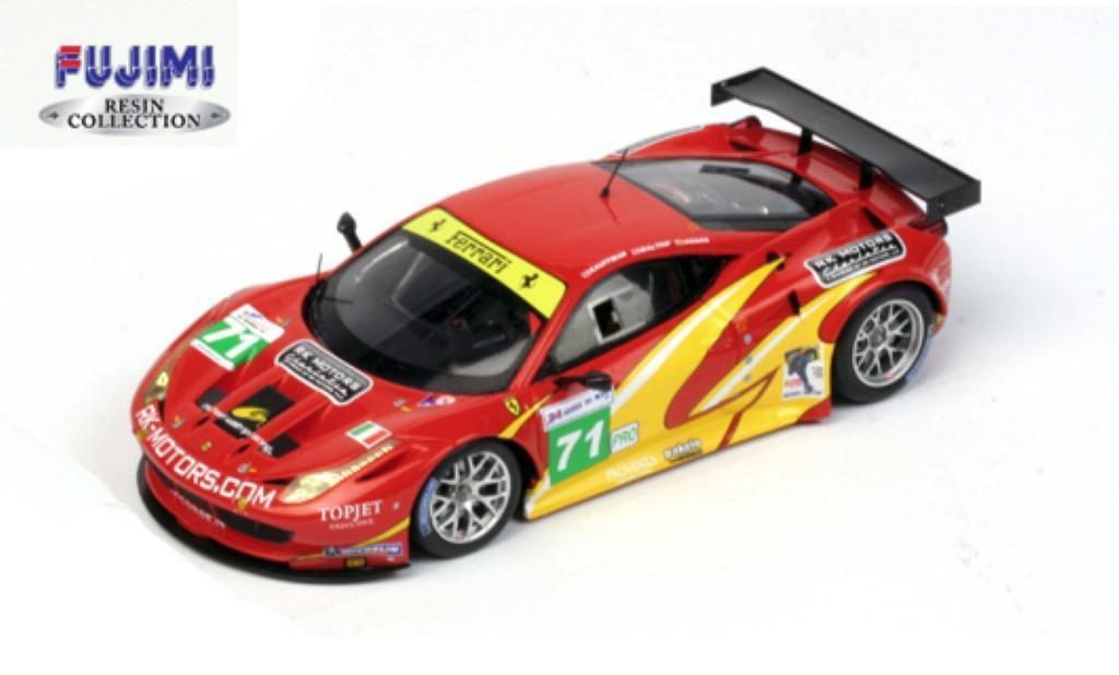 Ferrari 458 italia gt2   71 24h le mans 2011 wahre ausmaß miniaturen rot 1 43