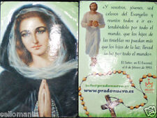 OLD BLESSED JESUS CHRIST IN EL ESCORIAL HOLY CARD 2011 ANDACHTSBILD SANTINI C728