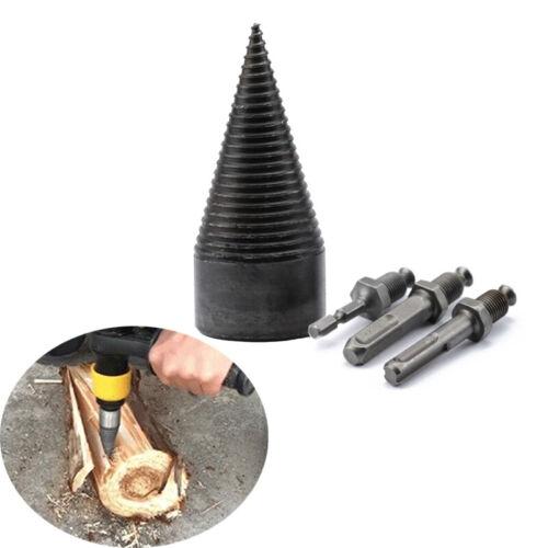 32//42mm Speedy Firewood Drill Bit Wood Splitter Screw Splitting Cone Driver Tool