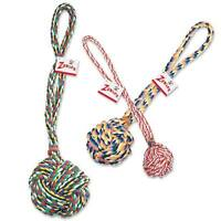 Monkey Fist Knot Rope Dog Toy Ball Handle Fetching Tugging Choose Size & Color