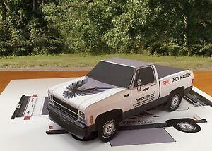 Details about Papercraft 1980 GMC Indy Hauler short bed Paper Model Truck  EZU-make paper car