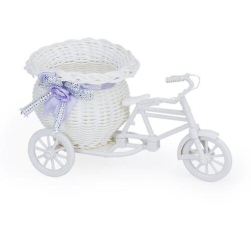 Tricycle rose mariage habitent Jardin Vélo Avec Panier Décoration Cadeau