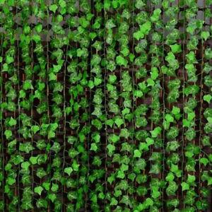 2-4M-Kuenstliche-Efeu-Efeubusch-Efeugirlande-Kunstpflanzen-Haus-Deko-Pflanze-ZN