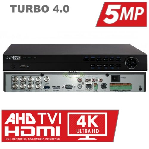 DVR TVI//CVI//AHD//CVBS//IP HikVision OEM 5MP TVI DVR 8//16Channel Penta-brid H.265