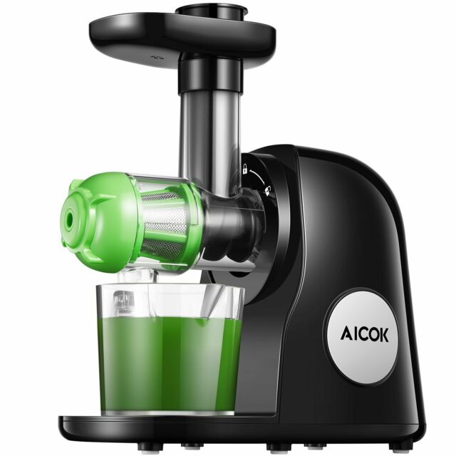 Slow Juicer Masticating Juicer Machine, Aicok Juicers Whole Fruit and Vegetable