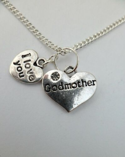 Godfather Gift Set 925 STERLING SILVER NECKLACE Family Charm Pendant Godmother