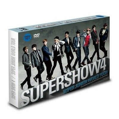 SUPER JUNIOR WORLD TOUR SUPERSHOW 4 Concert Live DVD 2 DISC + Photobook + Poster