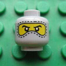 Lego Minifigure HEAD Balaclava SKI MASK Gray with Stitching Military Swat