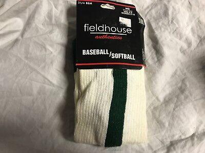 Fieldhouse Authentics Baseball Softball Socks Red Stripe Adult Large NEW