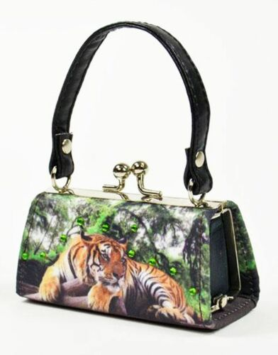 Mini Bags Save the planet Tiger Glitzersteinen Mario Moreno Tasche Geldbörse Neu