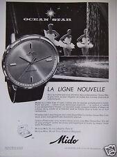 PUBLICITÉ 1959 LA LIGNE NOUVELLE MONTRES MIDO - OCEAN STAR DANSE - ADVERTISING