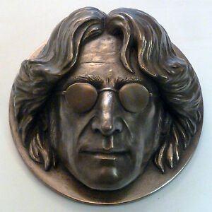 Limited Edition John Lennon Wall Plaque Sculpture in Bronze Resin