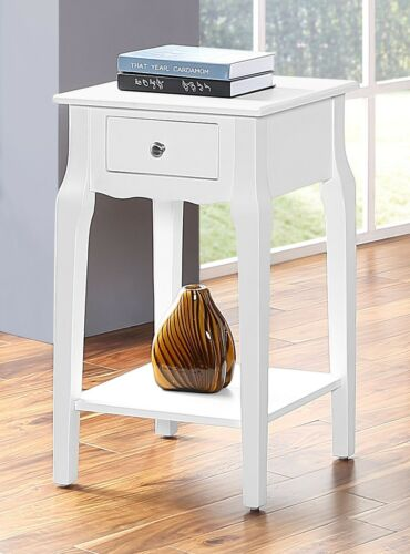 Living Room Furniture Night Stand Wood Storage Side//End Table With Drawer