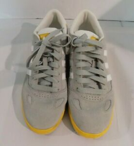 Adidas-Ciero-ST-Skateboard-Sneaker-Shoe-Men-039-s-US-Size-10-Grey-White-Yellow