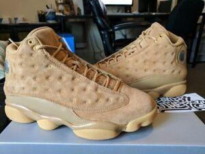 92b59f1de5177 Nike Air Jordan Retro XIII 13 Wheat Flax Golden Harvest Gold Tan Gum ...